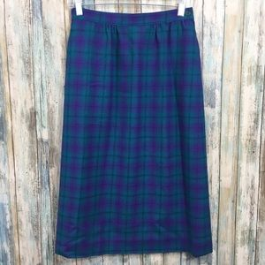 Vintage Pendleton Plaid 100% Virgin Wool Skirt